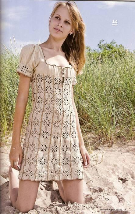 Вязание платья в стиле