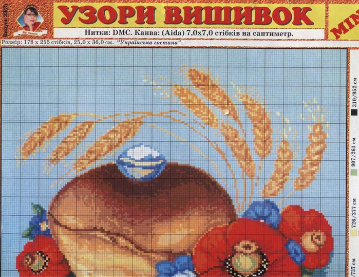 Хлеб и соль скачать схему для вышивки