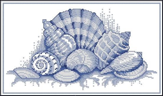 4 морские схемы. Вышивка