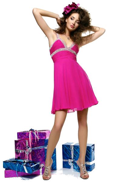 девушка-и-подарки (400x600, 191Kb)