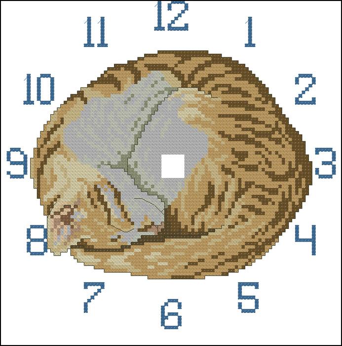 Схемы часов (вышивка крестом)