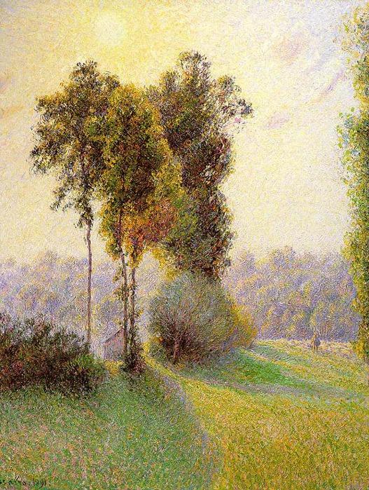Apus de soare în San Charles.  Eragny.  1891 (527x700, 211Kb)