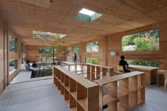 Самые необычные дома - японский дом Nest (Гнездо) 4 (700x466, 102Kb)