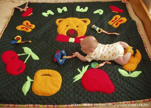 Как сделать развивающий коврик своими руками мастер класс - Master class