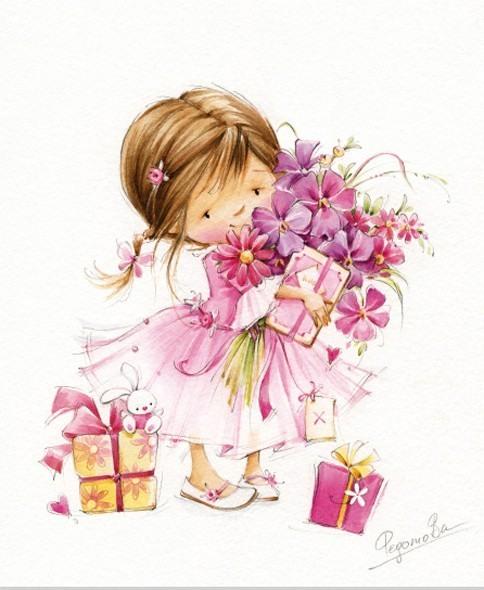 Открытки для красивой маленькой девочки