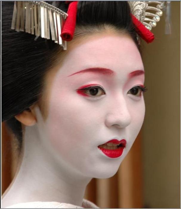 Фото макияж гейши
