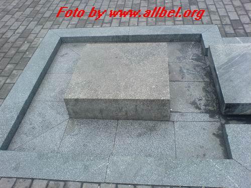 Прямоугольная плита для тела, квадратная - для головы