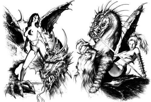 Татуировки с японскими драконами и