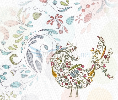 2563-doodles-background-with-colorful-bird (450x383, 168Kb)