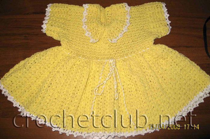Выкройка вязаного детского платья 10