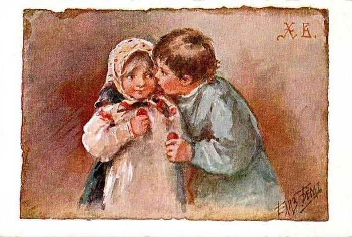 Винтажные открытки к Пасхе сделанные в России 87 (700x471, 126Kb)