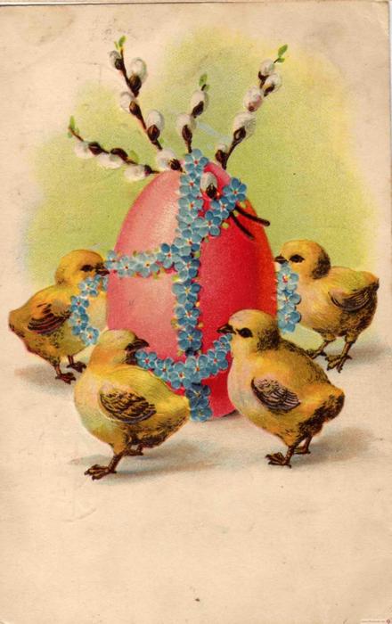 Винтажные открытки к Пасхе сделанные в России 172 (440x700, 323Kb)