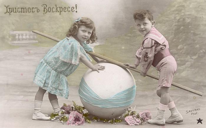 Винтажные открытки к Пасхе сделанные в России 196 (700x435, 77Kb)