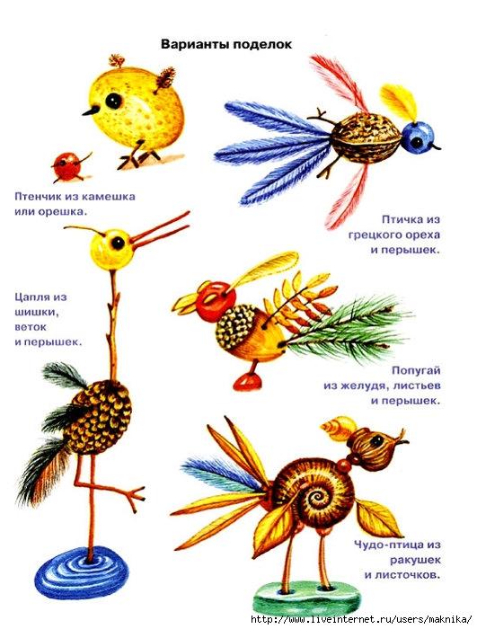 Поделки из природного материала для детей. поделки