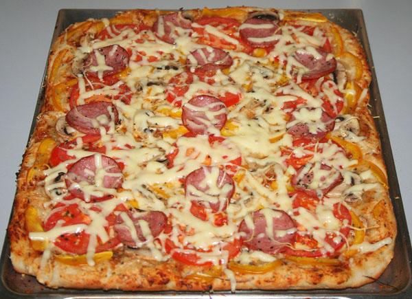 Тесто для пышной пиццы рецепт