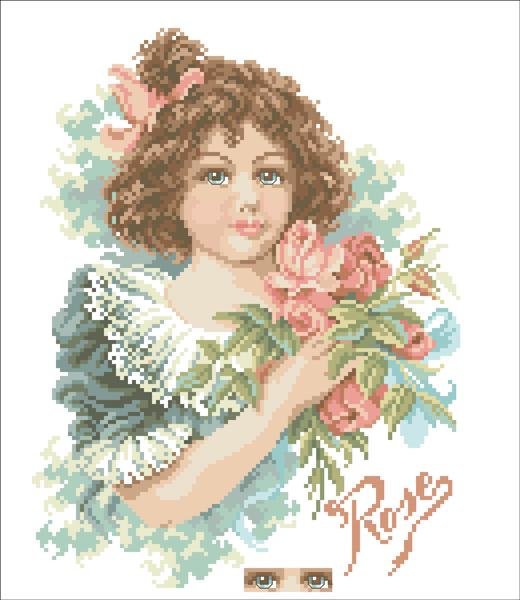 девочка с розой - Самое