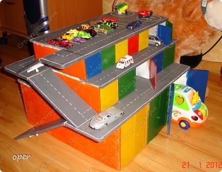 Как сделать гараж своими руками ребёнку