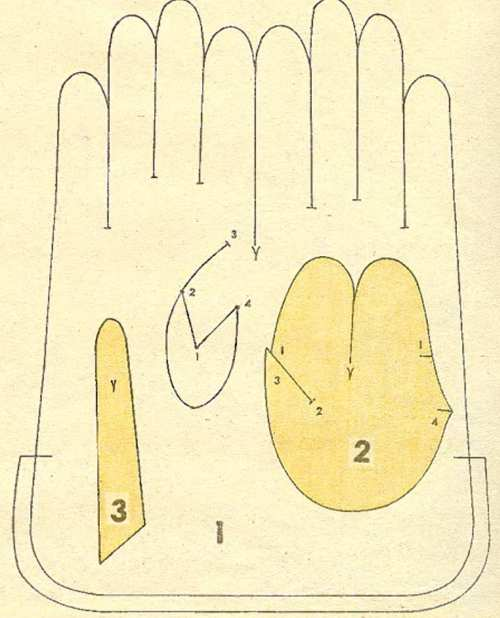 Длины перчатки своими руками 520