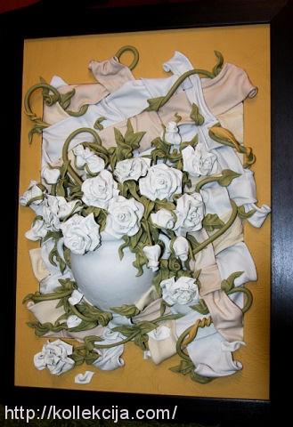 """""""Часть 1. Картины из кожи.  Розы.  Автор Андрей Коробейников."""