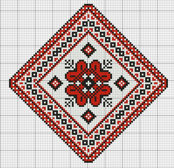 """Предпросмотр - Схема вышивки  """"Народная вышивка """" - Схемы автора  """"l9usdb """" - Вышивка крестом."""