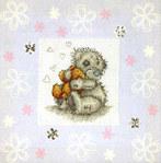 Вышивка крестиком - мишки Тедди.