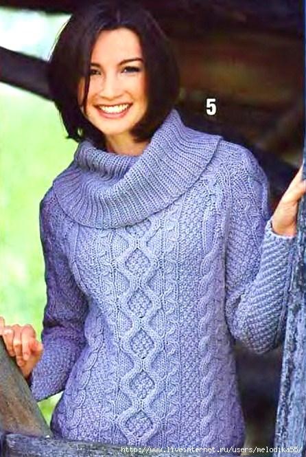 Женские свитера спицами схемы вязания.