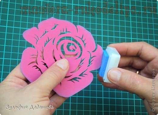 Вырезаем из бумаги цветы схемы