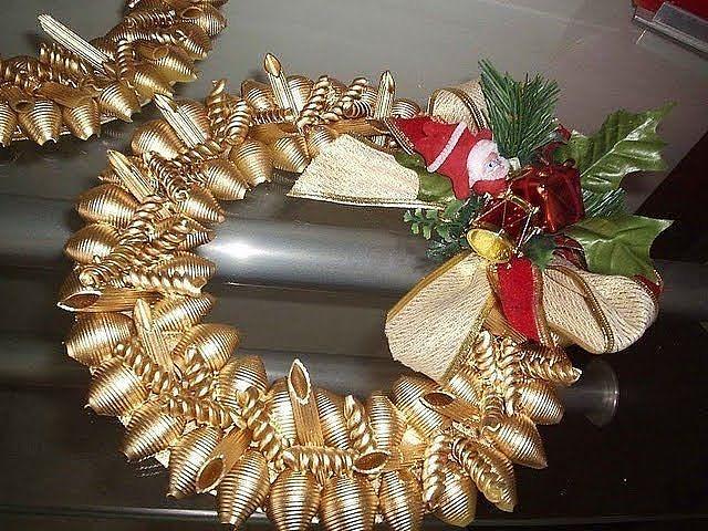 Новогодние украшения из макарон своими руками фото