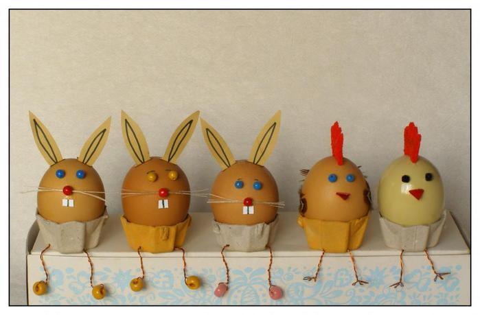 Поделки из яйца для детского сада
