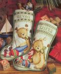 Вышивка крестиком - Рождественские сапожки.
