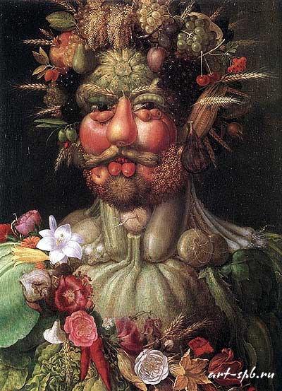 Вертумн (Портрет императора Рудольфа II) 1590 Джузеппе Арчимбольди (400x553, 107Kb)
