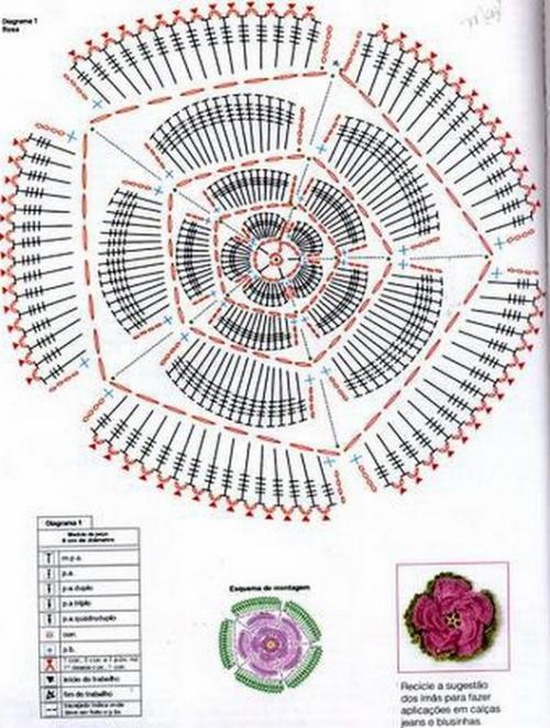 цветы крючком | Записи в