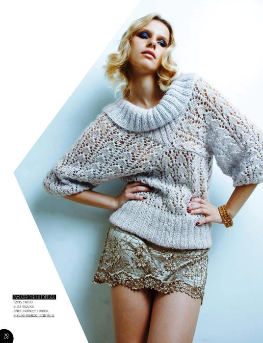 пуловер ажур. (536x700, 314Kb)