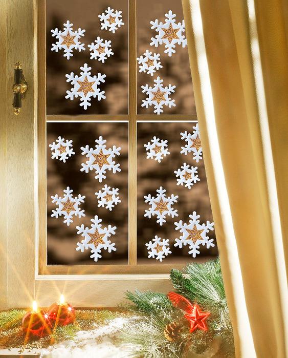 Как просто украсить окно к новому году