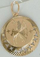 Золотая подвеска Стрелец (134x187, 57Kb)