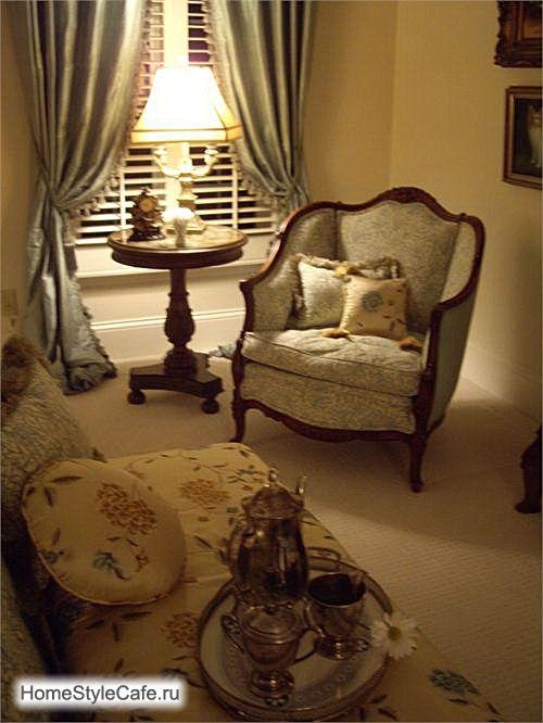 Интерьер спальни, французский стиль.