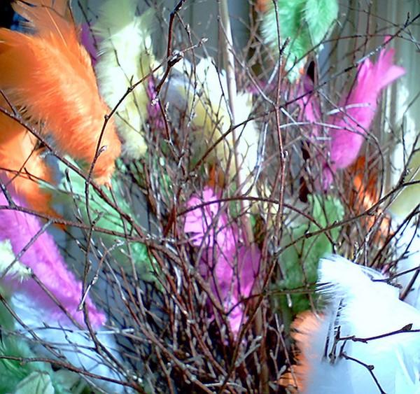 Красивые пасхальные композиции для украшения интерьера к празднику 46 (600x563, 124Kb)