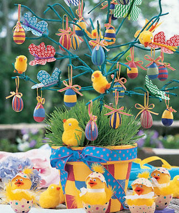Красивые пасхальные композиции для украшения интерьера к празднику 74 (590x700, 152Kb)