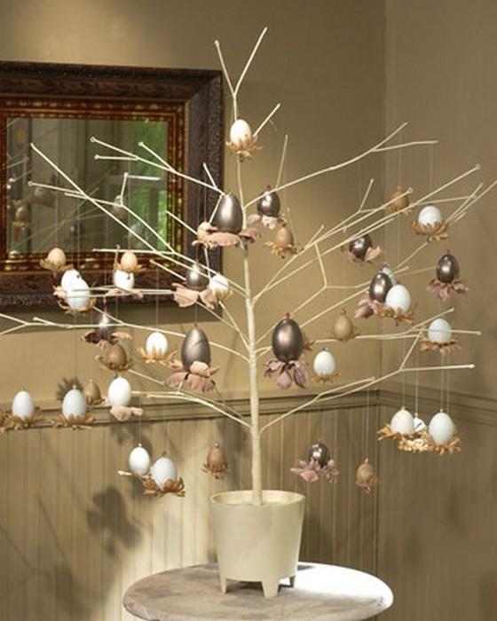 Красивые пасхальные композиции для украшения интерьера к празднику 92 (560x700, 79Kb)