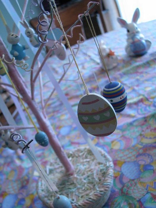 Красивые пасхальные композиции для украшения интерьера к празднику 110 (525x700, 86Kb)