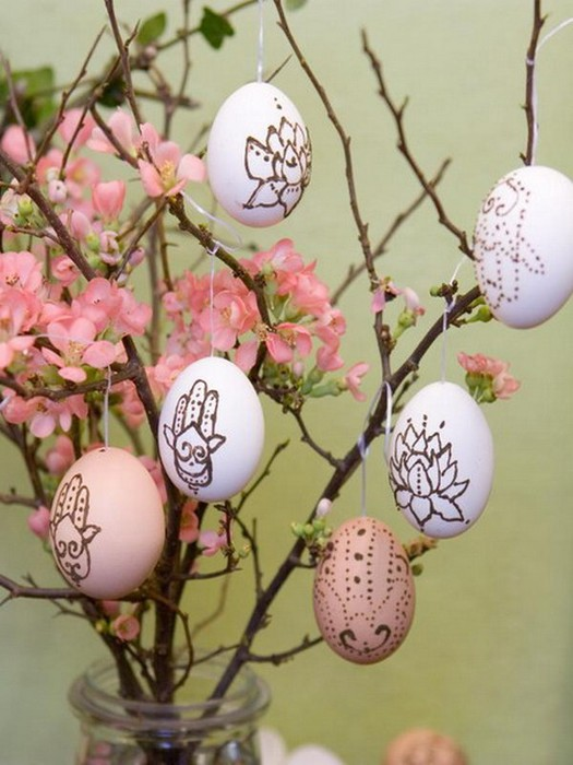 Красивые пасхальные композиции для украшения интерьера к празднику 123 (525x700, 84Kb)