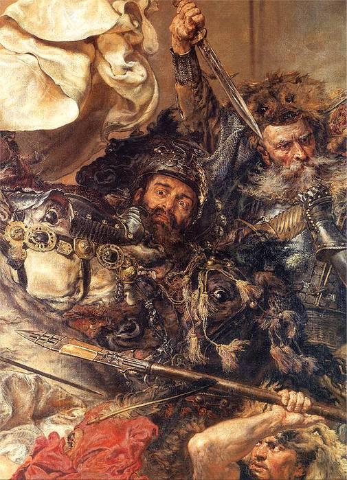 """Погибло все высшее орденское командование - магистр Юнгинген, маршал...  Я.Матейко.   """"Грюнвальдская битва """"."""
