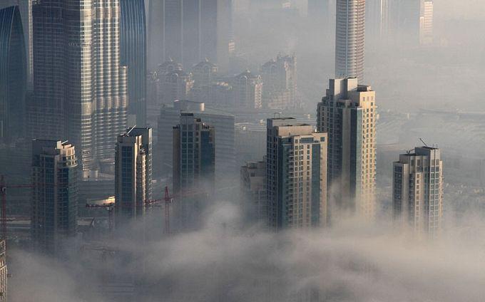 дубай в тумане фото