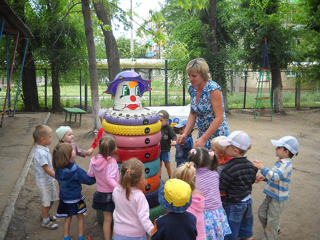 Оформление площадке в детском садике своими руками