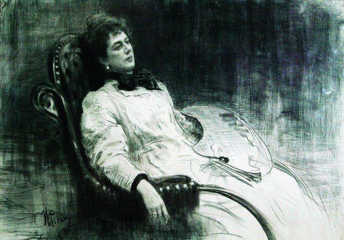 Портрет М.К.Тенишевой. 1898 (700x488, 136Kb)