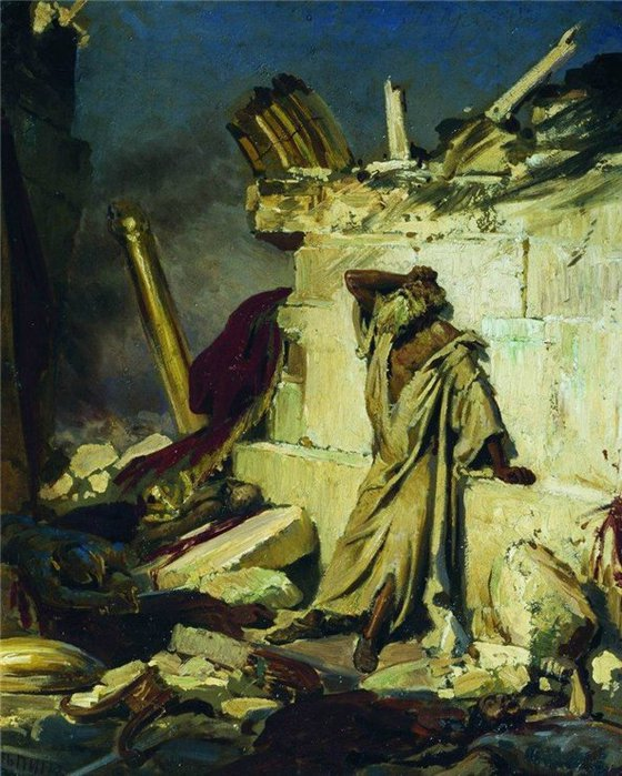 Плач пророка Иеремии на развалинах Иерусалима 1870 (560x700, 105Kb)
