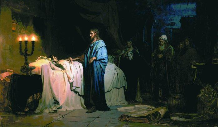 Воскрешение дочери Иаира. 1871.. (700x408, 38Kb)