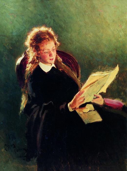Читающая девушка. 1876 (520x700, 91Kb)
