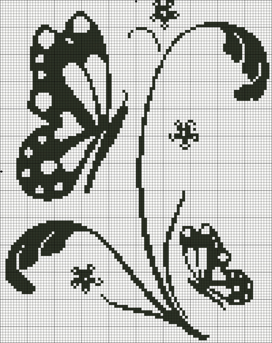 Бабочки схемы вышивка