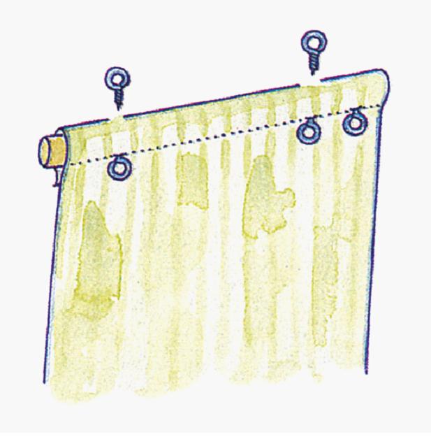 Своими руками шторы на пластиковое окно